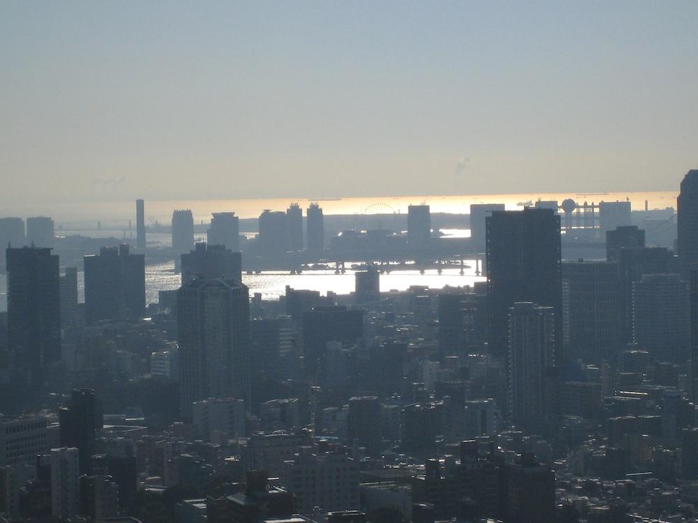 東京ミッドタウンから見える海(東京湾)