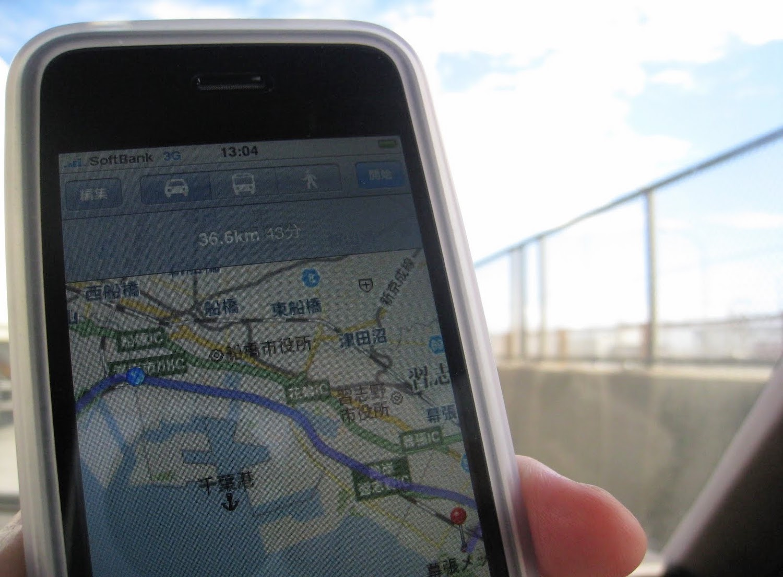 iPhone3GSのMAP