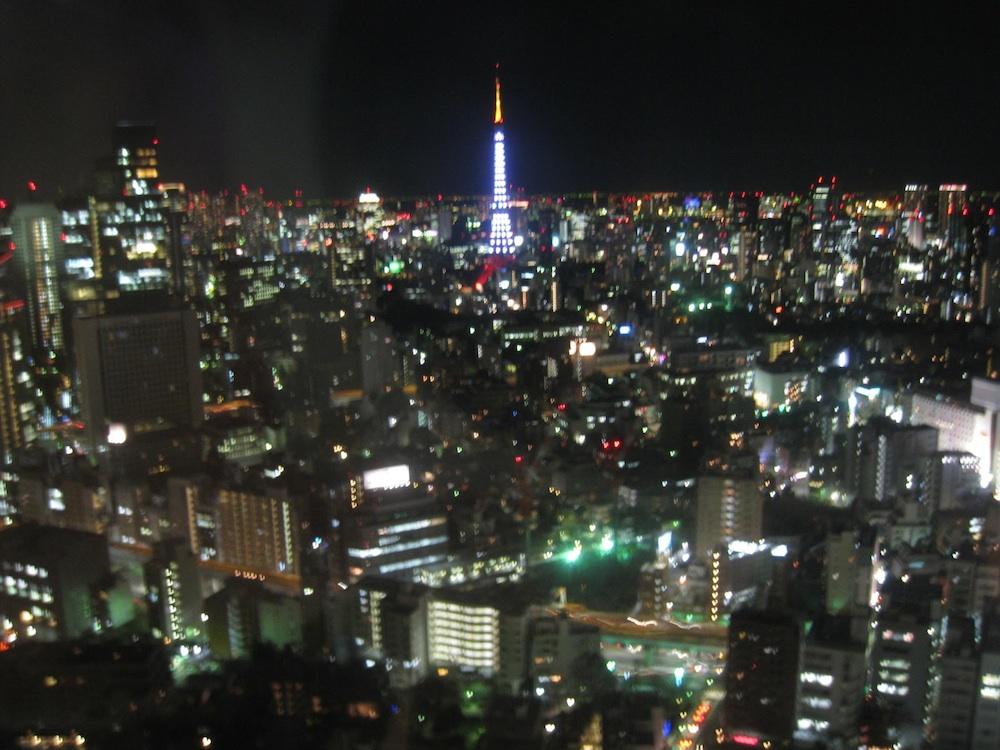 東京ミッドタウンから眺める東京タワー