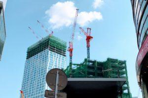 建設中の「渋谷ストリーム」