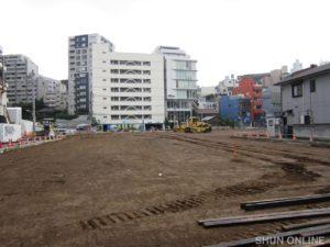 渋谷ビデオスタジオ跡地が更地となった頃の光景(2011年6月19日):撮影:SHUN ONLINE