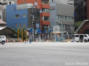 渋谷ビデオスタジオ跡地が駐車場となった頃の光景(2011年7月5日):撮影:SHUN ONLINE