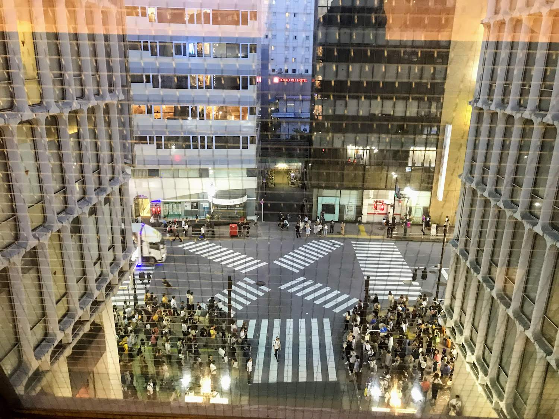 西武渋谷店・5階連絡通路からの光景(東方面)2019年5月25日