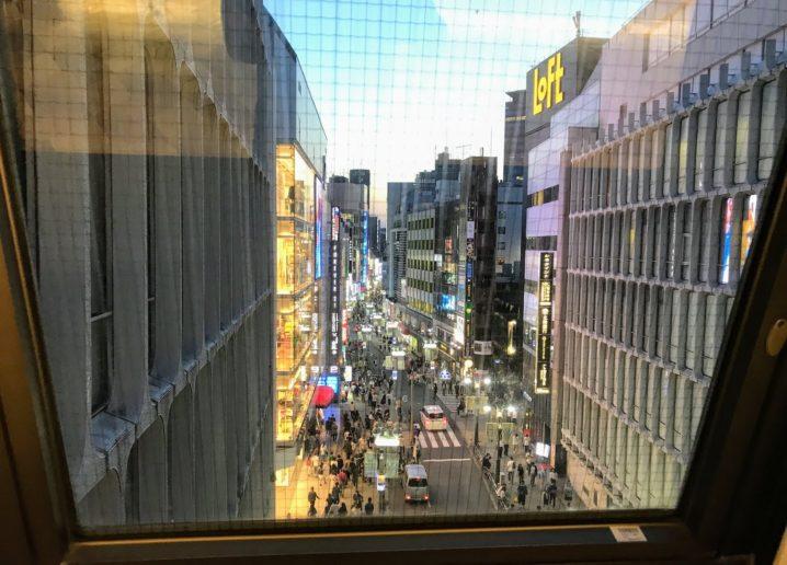 西武渋谷店・5階連絡通路からの光景(西方面)2019年5月25日
