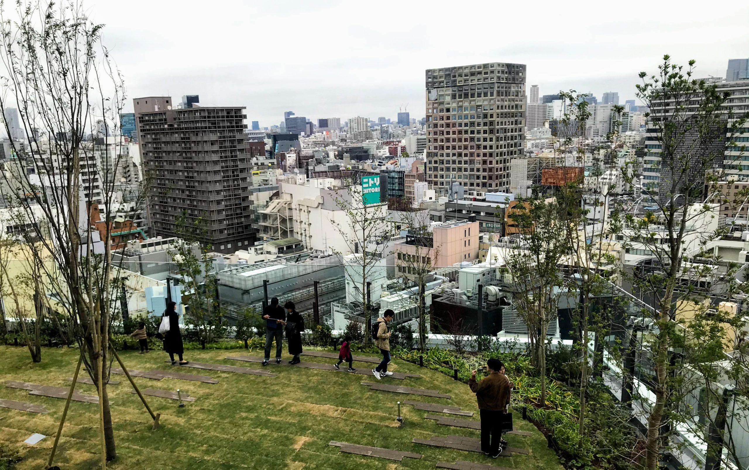 渋谷パルコの屋上