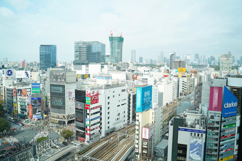 スクランブルスクエアから眺めた渋谷の光景。2019年11月3日、撮影:SHUN ONLINE