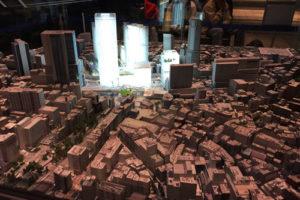 未来の渋谷 ミニチュア模型