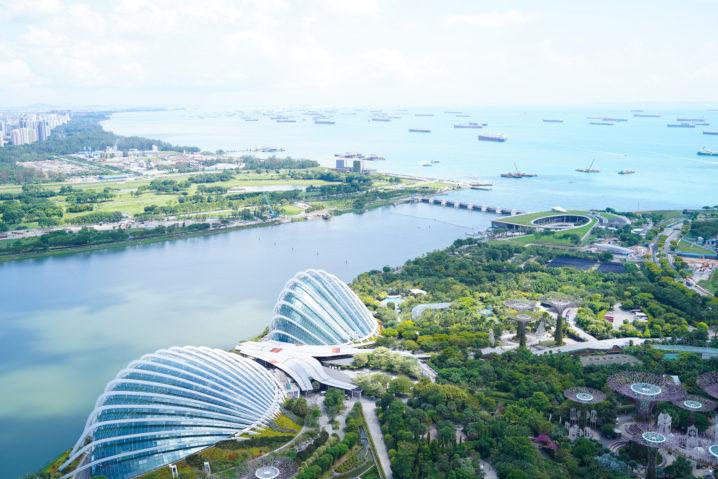 シンガポールのホテル「マリーナベイ・サンズ」の部屋から眺めた光景/2019年11月30日:撮影:SHUN ONLINE