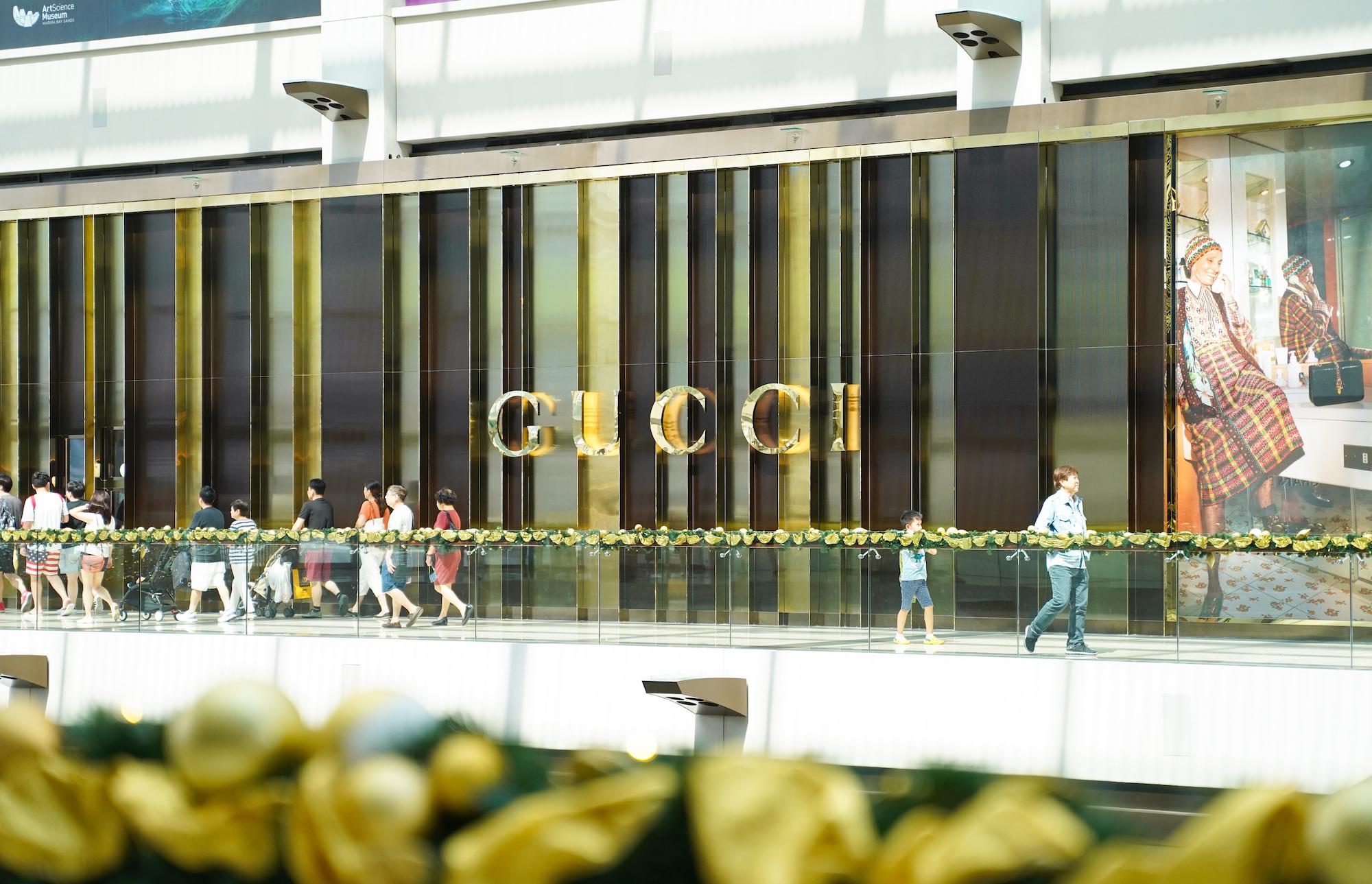 シンガポールのマリーナベイサンズのショッピングセンターにあるGUCCI(グッチ)/2019年12月1日:撮影:SHUN ONLINE