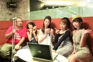 祭文監督、北川さん、アミリさん、竹川さん、心愛さん @番組「銀幕の豚」
