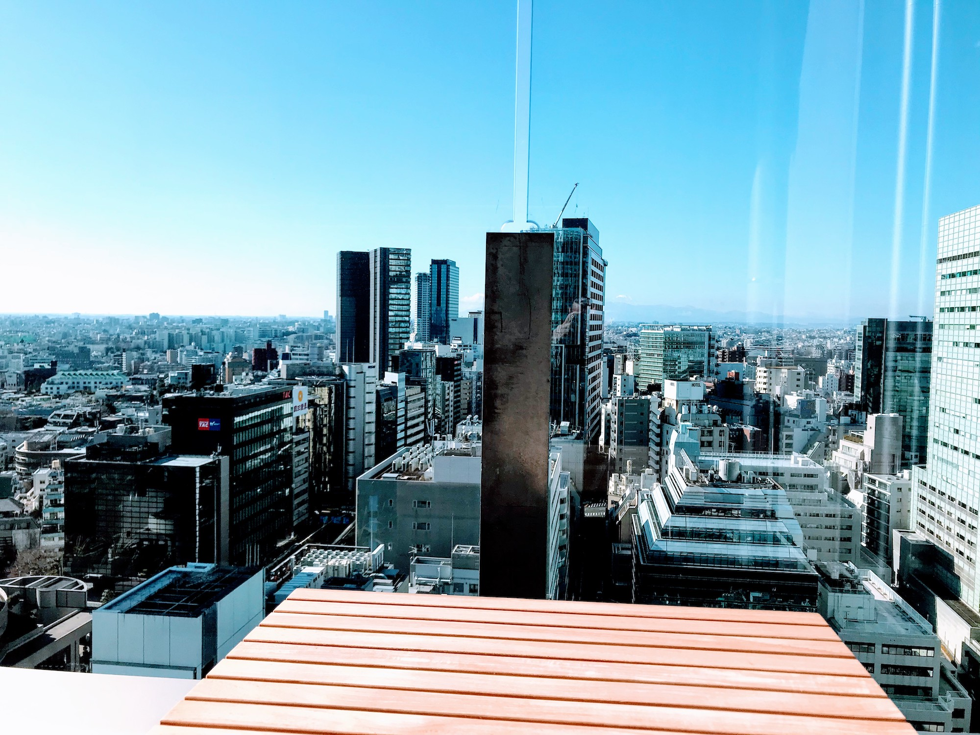 渋谷東急プラザからの光景