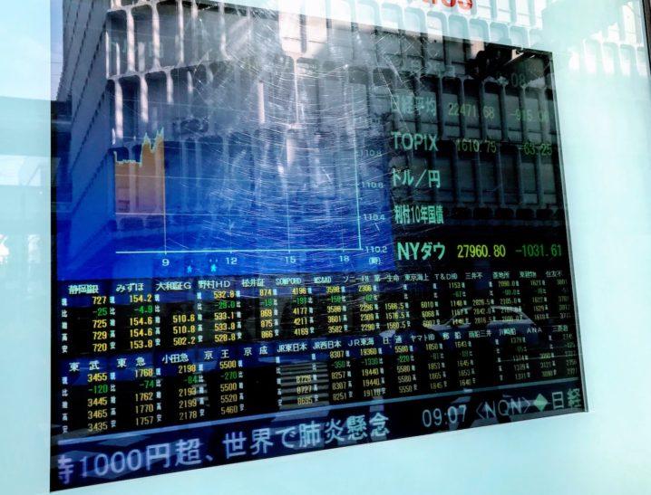 株価電光掲示板