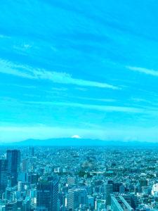 富士山(渋谷スクランブルスクエアから眺めた光景)