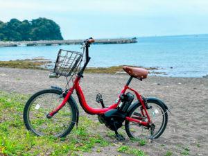 自転車 in 海岸