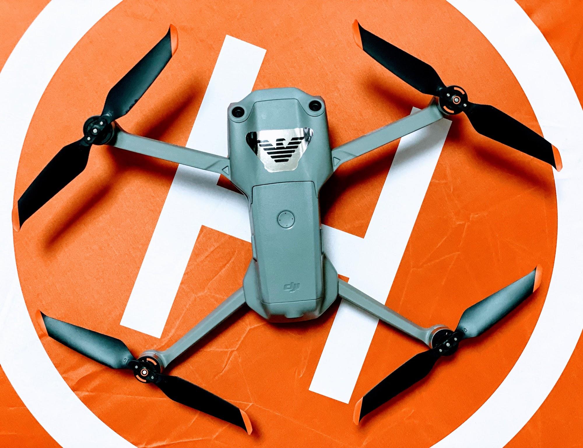DRONE「DJI AIR2S」in ヘリポート