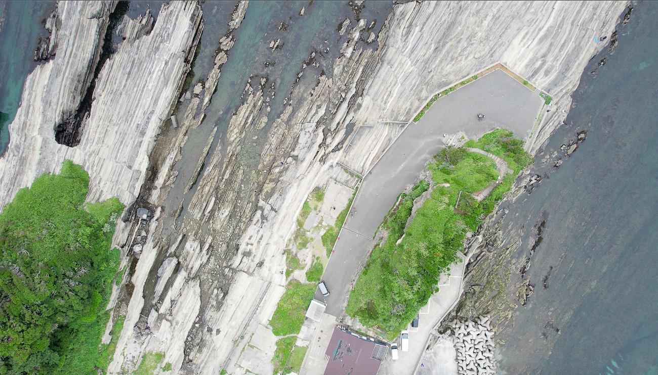 城ヶ島を上空から撮った写真