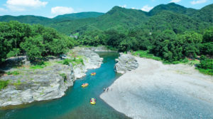 長瀞(埼玉県)を流れる荒川。2021年7月24日/撮影:SHUN