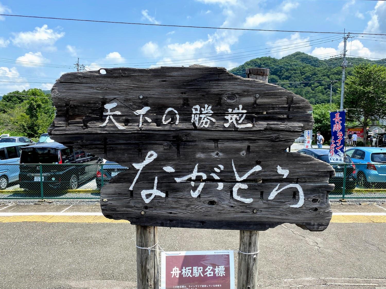 長瀞駅のプレート「ながとろ」/2021.7.24 photo:SHUN