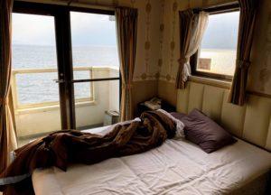 BEDから見える朝陽