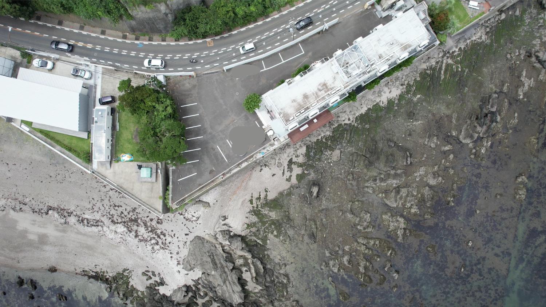 HOTEL SURF SIDE(ホテルサーフサイド)の上空から空撮した映像