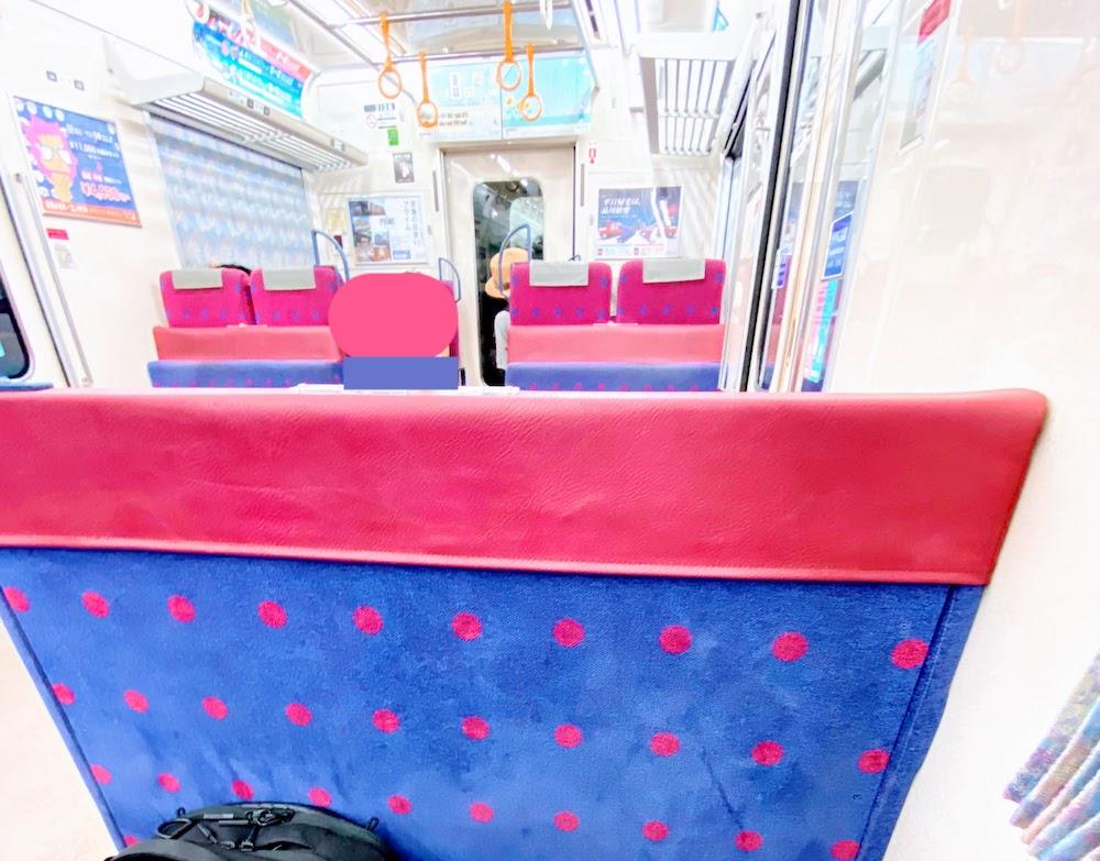 京急 電車の座席(ボックスシート)デザイン
