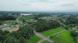 群馬県前橋市富士見町-DRONEからの光景