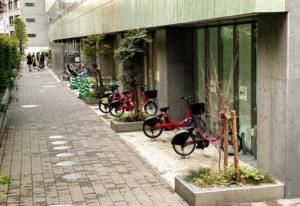 渋谷区役所のレンタサイクル拠点