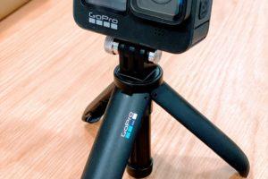 GoProの「携帯用・三脚付きミニ延長ポール」