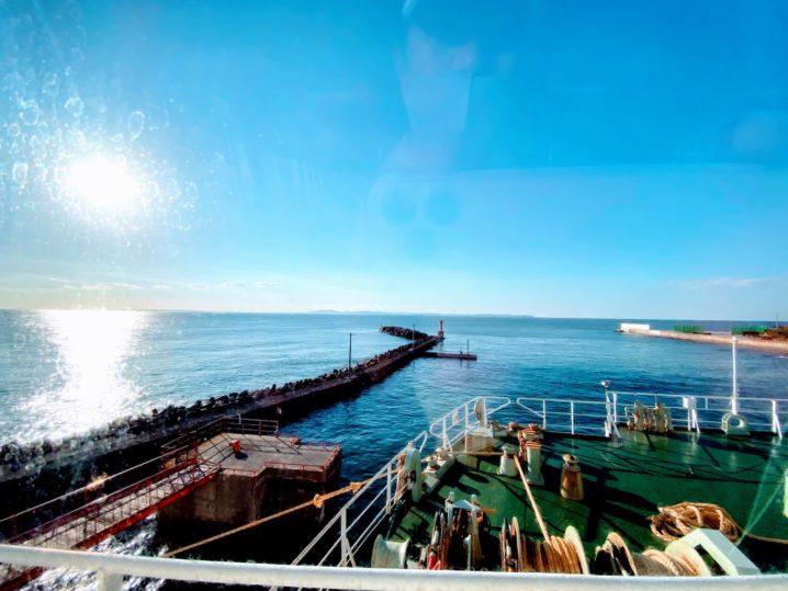 金谷港から眺める海