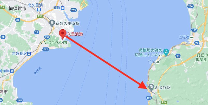 東京湾フェリー・航路MAP