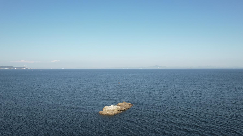 沖ノ島 @三浦海岸 2021年8月29日